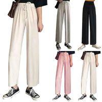 Women's Pants & Capris Womens Casual Long Wide-leg High Waist Slim All-match Loose Korean Style