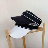 2021 클래식 편지 디자인 빈 최고 품질의 모자 캐주얼 여름 바이저 태양 남자 모자 스포츠 여성 골프 테니스 야외 해변 머리띠 Snapback Ball Cap Sunhat