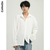 Men's Casual Shirts Spring Products Korean Style Simple Loose Trend Solid Color Long-sleeved Shirt Men M6-AR-H1050