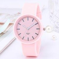 Designer Luxury Marca relógios Ins Candy Cor de Candy Coreano Silicone Silicone Moda Feminina es Reloj Mujer Clock Presentes para mulheres