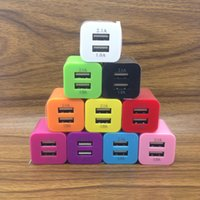 MKL01 Candy Color 5V 2.1A Dual USB Charger For US EU Travel Wall Cell Phone Chargers 10 Colors item