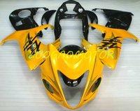 Kit de carénage personnalisé ABS Injection ABS pour Suzuki Hayabusa GSXR1300 GSXR 1300 2008 2008 2008 2011 COWLING 2012 2013 2014-2015 Kit de carénage noir jaune