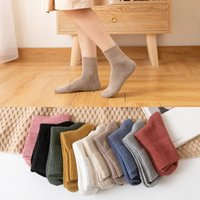 10pieces = 5 pairs autumn winter warm women cotton socks colorful Special comfortable Knitted Girls Casual Socks women