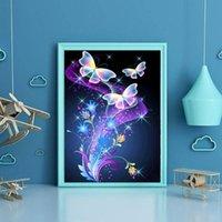 Картины 30x40 см Cufferfly живопись Арт Марка Высокое Качество DIY Diamond Kits Chest Chesk 5D горный хрусталь паста