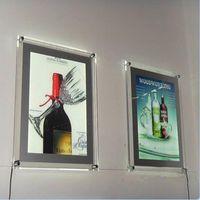A4 Affichage de la fenêtre immobilière à sens unique, écrans muraux à LED, poches LED pour agent immobilier, magasin de chaînes, vente au détail