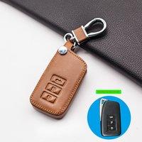 Несущая мягкая кожаная крышка ключа автомобиля для LEXUS NX GS RX ES GX LX RC составляет 250 200 350 300H 450H CT200 RX270LX 3 кнопки Smart Case