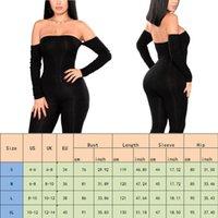 Women's Jumpsuits & Rompers Meihuida Women Jumpsuit Sexy Ladies Party Off Shoulder Long Sleeve Romper Skinny Trousers