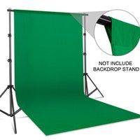 Pano de fundo de fundo material liso musselina algodão verde tela chromakey pano para foto studio video família