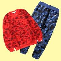 Mujeres Pantalones de dos piezas Hombres Hombres de otoño Camuflaje Camuflaje Streetwear Equipo Adolescente Moda Casual Hip Hop Swearstuit