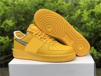 2021 Release Authentic MCA Low 1 University Gold Shoes Off Blue 07 Volt Cone White Black Chicago UNC Prestos Man Outdoor Sports Sneakers With Original Box DD1876-700