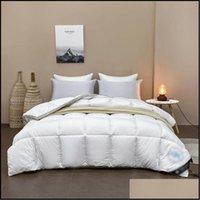 Comforters Supplies Textiles Home & Gardenhigh Quality Warm Sets Thick Fleece Fabric Woven Bedding Queen Size Quilt Luxurys Designers Veet D