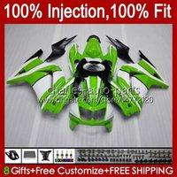 Iniezione per Kawasaki Ninja ZX250R ZX 250R ZX250 13HC.116 EX250 EX250R 08 09 10 11 12 ZX-250R 2008 2009 2010 2011 carenatura verde bianco