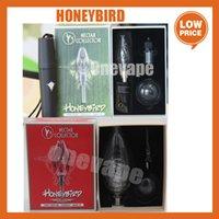 2 Estilo Honeybird Kit completo tubo de água de vidro com ponta de titânio Delux NC kits com ponta de titânio Quadrão prego cerâmico 3 tipos de dicas água tubulação de vidro Delux mini bongo
