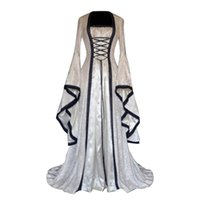 Casual Dresses Damen Kleid Damen Mittelalterliche Retrostil Solide Farbe Trompete Hülse Quadratische Kragen Plus Size Princess Long Vestido