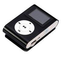 Clipe de metal Digital Mini MP3 player com suporte de tela LCD de 1,8 polegadas TF cartão USB 2.0 com fone de ouvido de 3.5mm