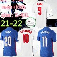 Dimensione: S-4XL 2021 2022 Jersey di calcio Kane Sterling Rashford Sancho Henderson Barkley Maguire 20 21 22 Camicie da calcio nazionali Uomo + Kid Kit Set Uniformi