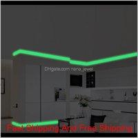 Luminous Band Baseboard Wall Living Room Bedroom Home Decor Decal Glow In The Dark Strip Stickers Zibtx Vqlef
