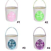 29 Оценка пасхальные сумки Bunny Bunrel Bucket корзина 6Styles Burlap кролика ушной Caved Canvas Tote Buggy сумка подарки яичные конфеты сумка G10508