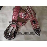 2022 Designer Belt Bb Simon Belts for Men Women Shiny diamond belt pink bb belts