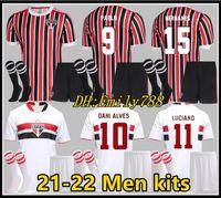 Erwachsener Kit 2020 2021 Fussball Jersey Sao Paulo Souza Helinho Peres HERNANES 21 22 Camisa de Futebol Sao Paulo Football Hemden Kits Unifrom MAILLT