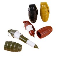 Ballpoint Pens 4pc Creative Grenade Shaped Pen Cartoons Student Blue Cute Office School Supplies Promotion Stationery