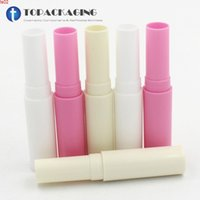 100 stks / partij, 4G lege lippenstift buis, romige witte plastic cosmetische container, roze lippenbalsem subbottelen, mini beige glanzende vialshigh qualtity