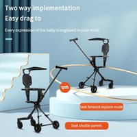 Strollers# Luxury Baby Stroller 3 In 1 High Landscape Cart Ventilation Chair Portable Pushchair Foldable Cradel Infant Carrier