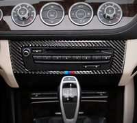 자동차 스타일링 BMW Z4 탄소 섬유 자동차 스티커 에어 컨디셔닝 CD 제어 패널 커버 E89 2009-2015 인테리어 액세서리