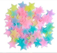 Wall Stickers Luminous Stars Stereo 100pcs 3D Glow In Dark Plastic Wallpaper Home Decor For Kids Bedroom Ceiling