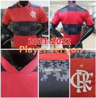 2021 2022 Cr Flamengo Soccer Jersey Flemish 21 22 De Arscaeta Bhenrique الفانيلة Gabriel B.Diego Player نسخة القمصان Flamenco Football
