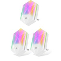 16 Colors RGB Led Night Novelty Lighting Plug Type Dimmable Brightness with Remote Control for Baby Children Room Bedroom Corridor Hallway Stairs atmos fedex