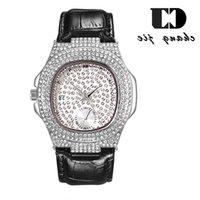 CJ 새로운 하이 엔드 패션 캘린더 다이아몬드 남성 팔찌 스카이 스타 방수 쿼츠 벨트 시계