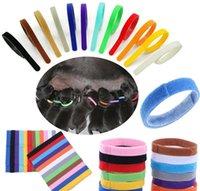 강아지 신분증 칼라 식별 ID 칼라 밴드 휠 강아지 고양이 개 애완 동물 고양이 벨벳 실용적인 12 색