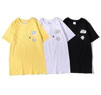 Ins rua moda marca barato bolso bolso manga curta muitos gato impressão solta casual casal mesmo homens e mulheres t-shirt amarelo