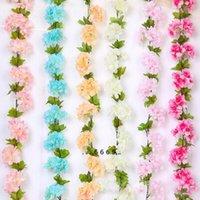 2.2m Artificiale Blossom Flowers Flowers Garland Ghirlanda Edera Decorazione Fiori Fiori Fiori di seta Vine per il partito Arco Arco Decor String FWD5502