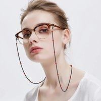 Moda Leitura Óculos Corrente Retro Grânulos Óculos Óculos De Sol Espetáculo Pescoço Correia Cadeia Cadeia Eyewear Accessary