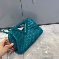 Fashion Handbags for Women Luxury Bags Designer Triangle Hobos Genuine Leather Shoulder Bags Roll Up Clutch