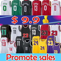 Nba Los Angeles Lakers Chicago Bulls Brooklyn Nets 11 irving 7 Kevin 13 Harden 0 Westbrook basketball jersey 3 Wade Jimmy 22 Butler Jayson 0 Tatum men nba basketball jerseys top