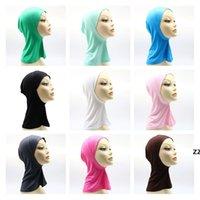 Inicio Textil Modal Turban Hijab Monocromo Mercerizado Mercerizado Base de algodón Cap 17 Colores HWF10203