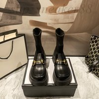 Elastic stockings Platform boots socks heeled heel fashion sexy Knitted boot luxury luxue designer Alphabetic women shoes lady Letter Thick high heels