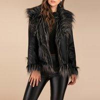 Women's Leather & Faux Casual Tassel Jacket Zipper Outwear Coat Winter Women Blouse Tops Overcoat Chaqueta Mujer 2021 Veste Femme