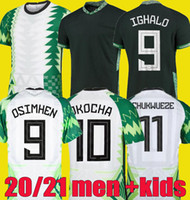 Mikel iheanacho Okocha Maillot De Pé 2020 2021 Ahmed Musa Futebol Jersey 20 21 Okechukwu Oghalo Ndidi Camisas de futebol Men Kid Kids Kit