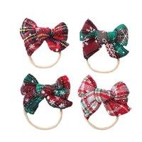 Girls Hair Accessories Baby Headbands Bows Children Headband Ornament Newborn Christmas Bow Head Bands B8507