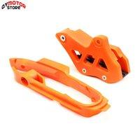 Pièces Haute Qualité Orange Burnarm Chain Slider + Guide de garde pour SX F SMR XC XCF 125 150 200 250 350 450 525 2011-2021