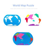 Fidget Toys World Map Puzzle Anti Push Stretchy Strings Gift Pack Adults Children Squishy Sensory Antistress Relief Figet
