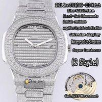 2021 جديد 18 كيلو أبيض الذهب الكامل الماس البطانة حالة 5719/10 جرام رجالي ووتش كال.8215 التلقائي الرياضة الميكانيكية luxury sapphire الساعات shine_time