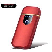 Mini calentadores eléctricos Touch Touch Sensing Lighter Metal Thin a prueba de viento USB RECARGABLE DE CIGURTORES DE CIGURTORES COMPLETO GADGETS PARA HOMBRES