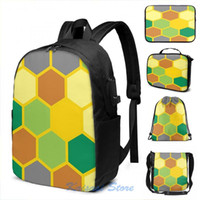 Backpack Funny Graphic Print CATAN TEXTURE USB Charge Men School Bags Women Cosmetic Bag Travel Laptop