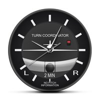 Aviación Classic Silent Non Ticking Wall Clock Aircraft Cockpit Style Face Wall Clock Aeroplano Instrumento Tiempo Pilotos Regalo 210309