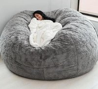 Acampamento mobiliário macio confortável gigante feijão de feijão capa sala de estar decoração descanso redondo sofá-cama gota
